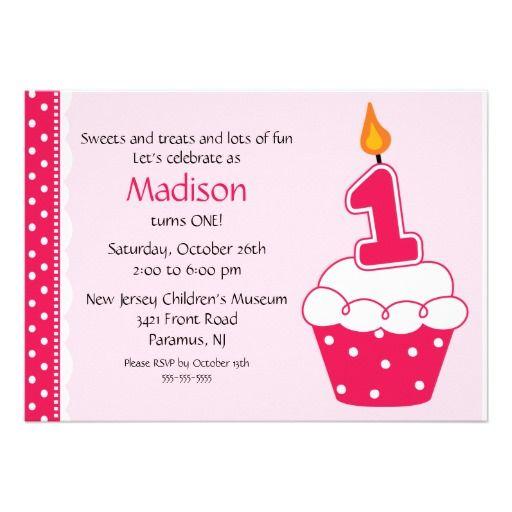 First birthday cupcake invitation candy themed birthday ideas first birthday cupcake invitation filmwisefo