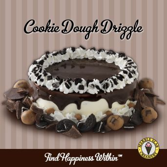Cookie Dough Drizzle Ice Cream Cake from Marble Slab Creamery
