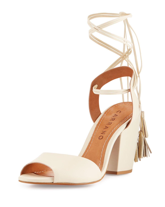 4c0d0ef6036 Carrano Josephine Leather Lace-Up Sandal