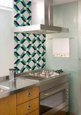 """""""Adesivo tipo azulejo Kit com 20 adesivos Azulejo Seta"""""""