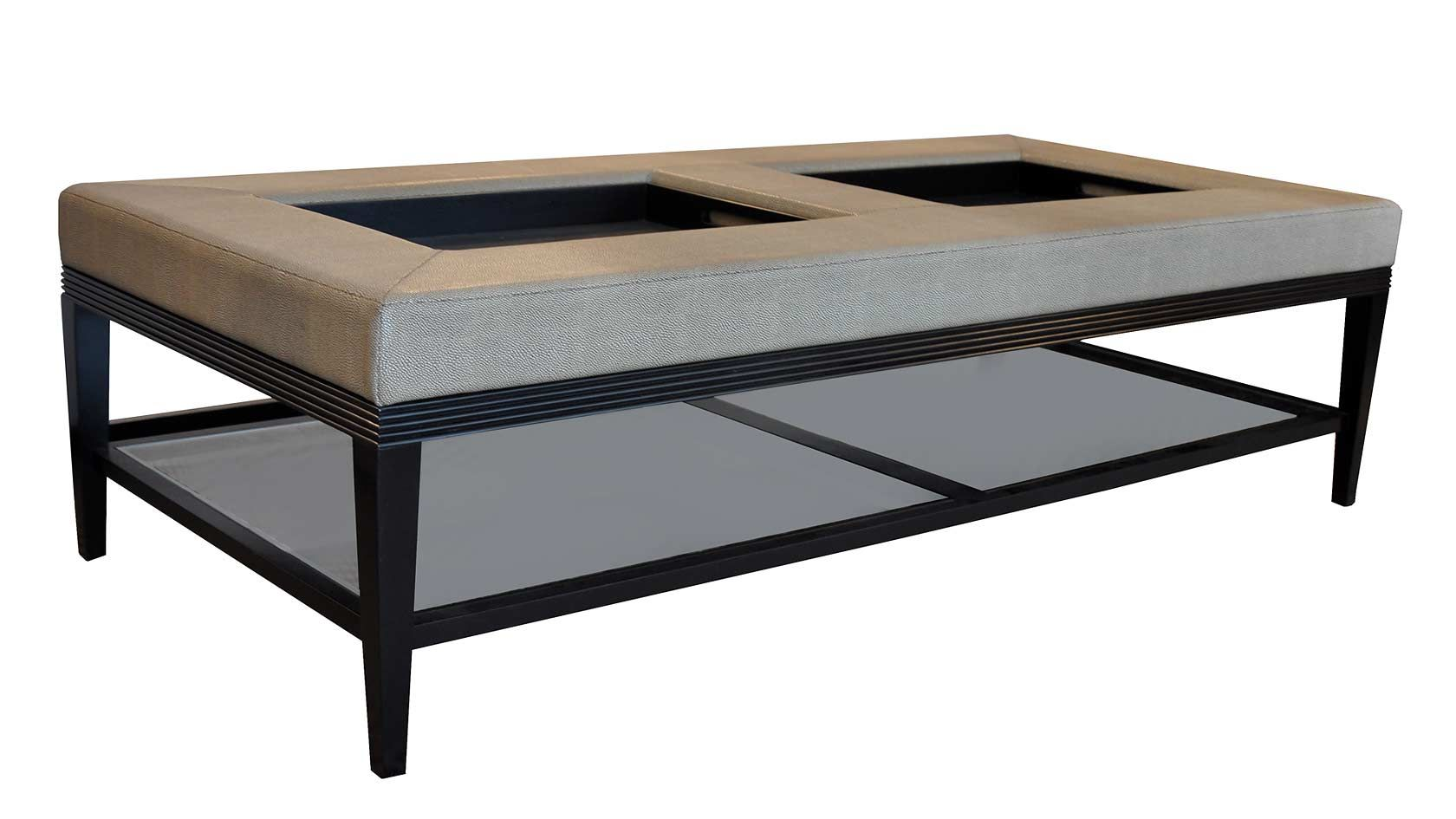 Double Ottoman Coffee Table 8