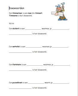 Welp Taal Op Maat groep 4 werkbladen | Taal, Woordenschat, Werkbladen OJ-04