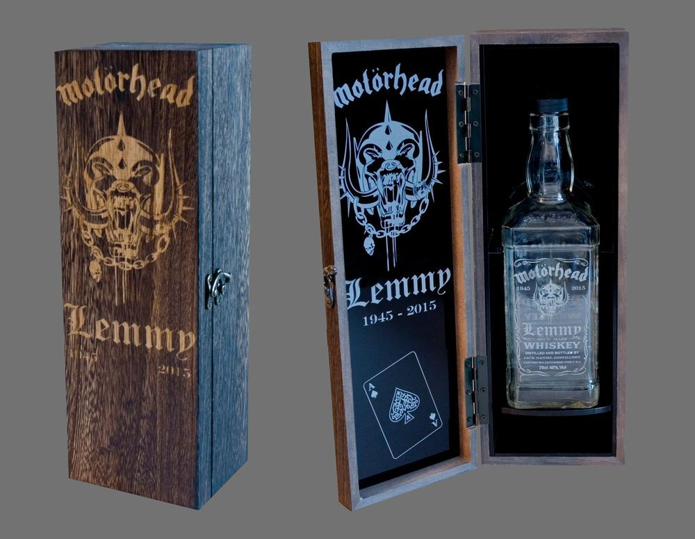 foto de Details about Lemmy Motorhead Jack Daniels Presentation Box + Engraved JD Bottle FREE Post