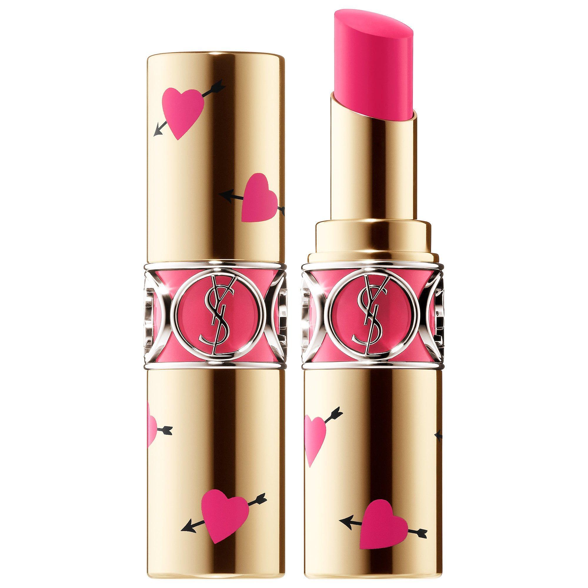 944a403b4f Yves Saint Laurent Heart   Arrow Collector Rouge Volupté Shine Lipstick 49  Rose Saint Germain 0.11 oz  3.2 g