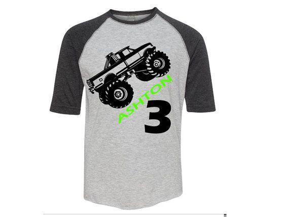 Monster Truck Birthday Shirt Monster Truck Shirt Monster Truck Birthday Monster Truck Party Monster Truc Truck Shirts Monster Trucks Monster Truck Birthday
