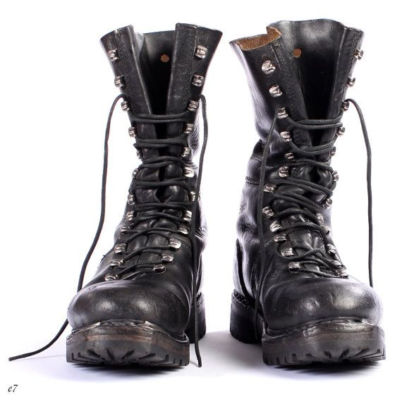0905238a333ee Mens Vintage Combat Boots | its a mens world | Steampunk boots, Mens ...