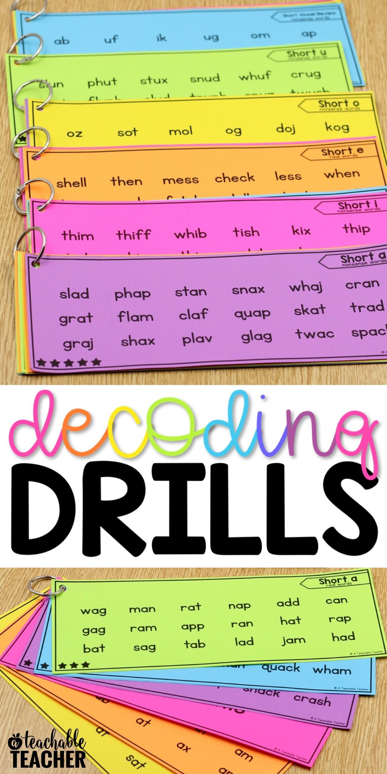 Decoding Drills For Fluency Are A Perfect And Fun Way For