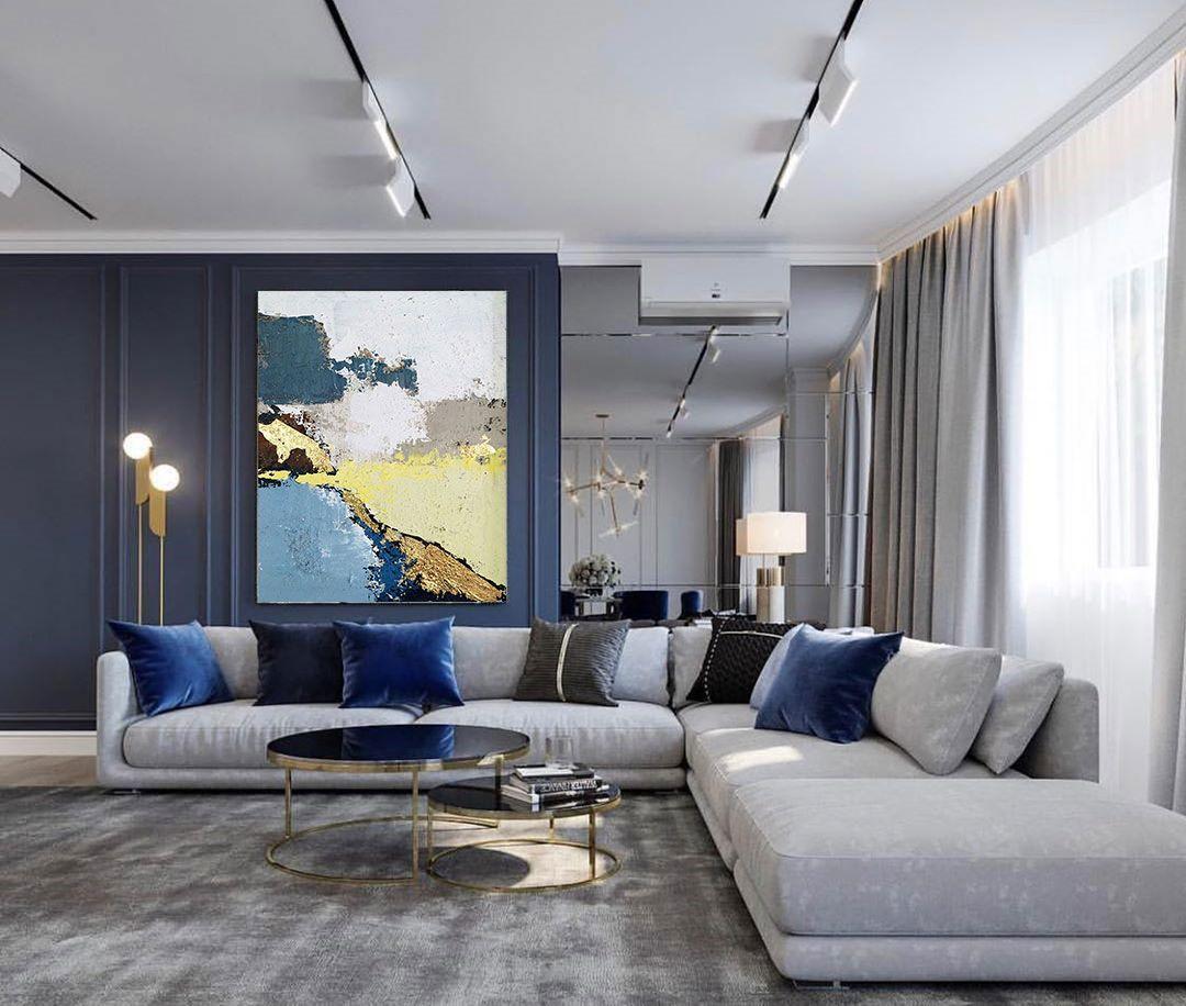 Big Living Room Decor Blue Living Room Decor Living Room D