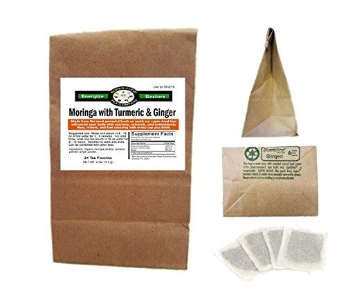 30 Moringa  Turmeric  Ginger Tea Tea Bags  Original Blend  Affordable Super Foods  Amazing Taste  Top Nutrition  Benefits ** Check this awesome product by going to the link at the image.Note:It is affiliate link to Amazon.