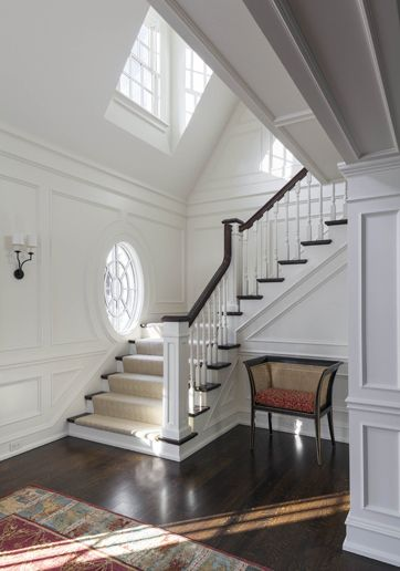 Browse The Exterior And Interior Images Of Country Estate Located In Weston Ma Country Estate Staircase Design Architecture