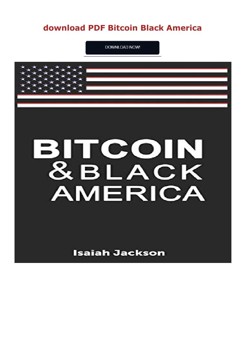 Pdf Download Bitcoin Black America Ebook Pdf Download Read Audibook