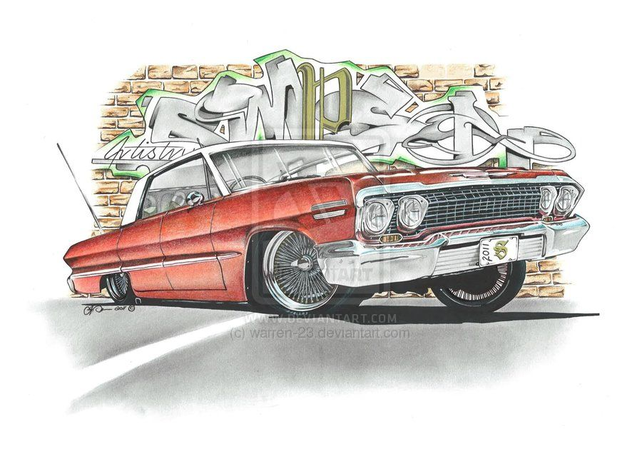 chevy impala drawing Google Search Car drawings