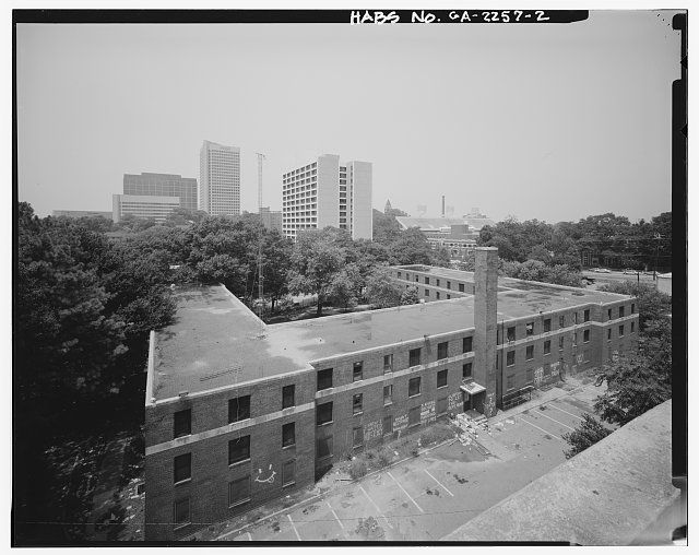 2 View From Rooftop Of Building Motel Adjacent To Techwood Homes Looking West Georgia Tech Dormitory Building 581 Public House Williams Street Building