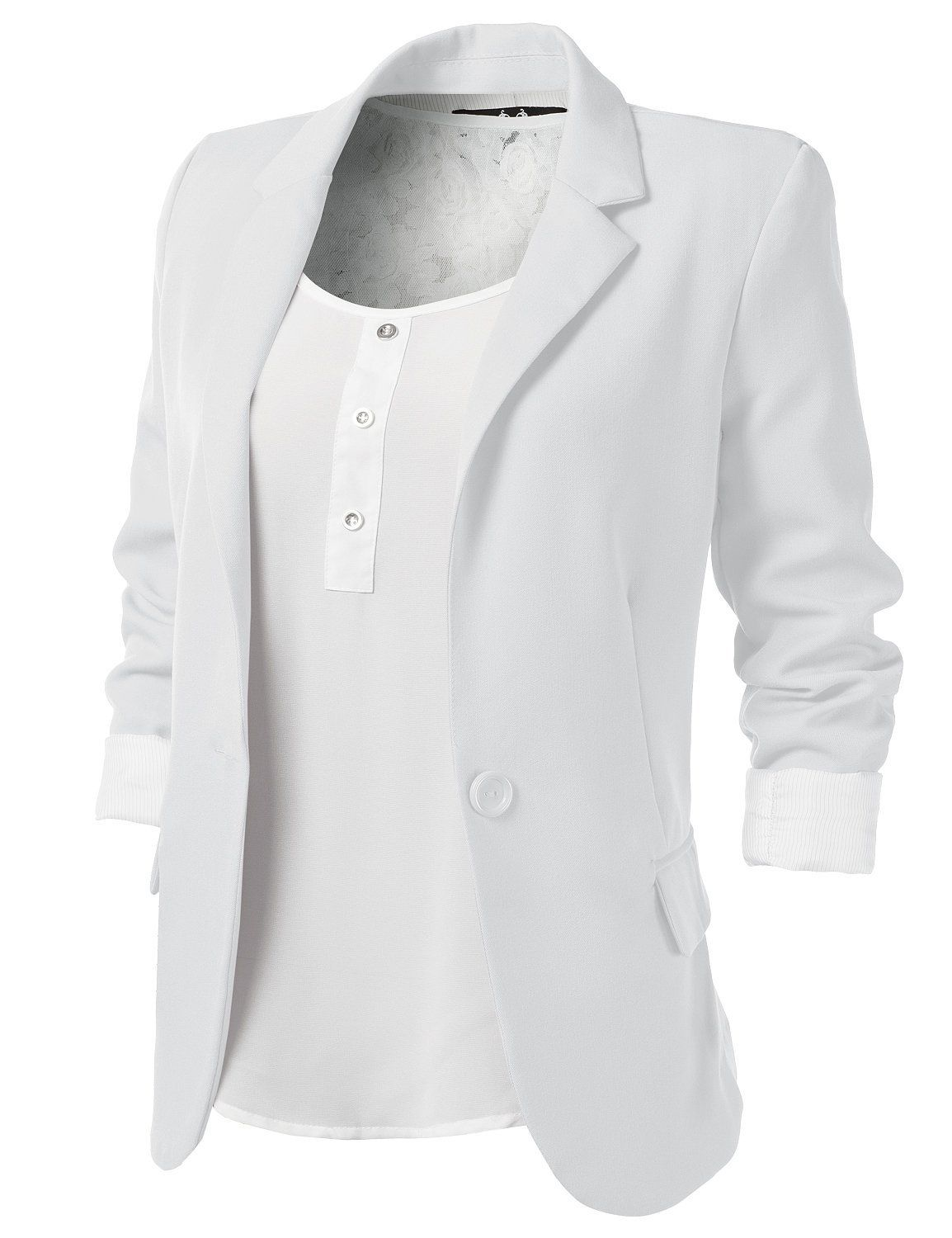 Collection White Blazer Womens Pictures - Reikian