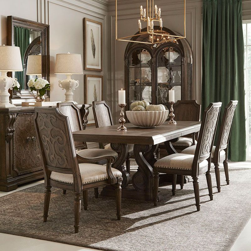 Vintage Salvage Rectangular Dining Room Set in 2020 | Home ...