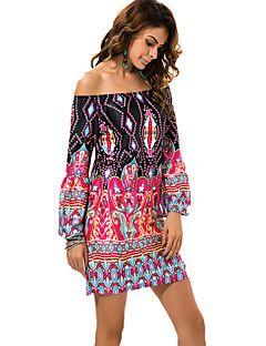 7b8f972db Mujer Recto Vestido Playa Tallas Grandes Vintage Boho