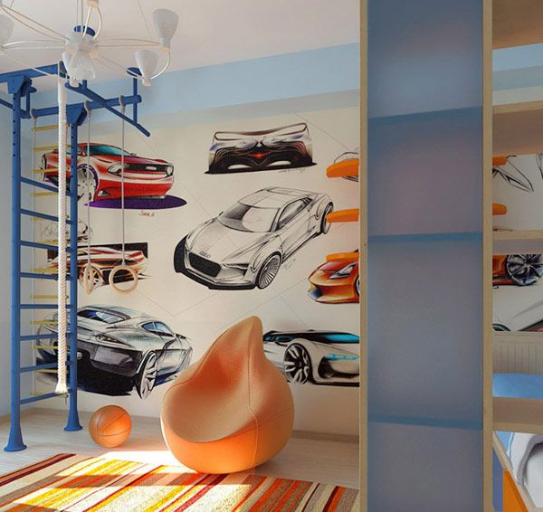 Diverse And Creative Design For Teen Bedroom Sport Wallpaper For - Boys car wallpaper designs