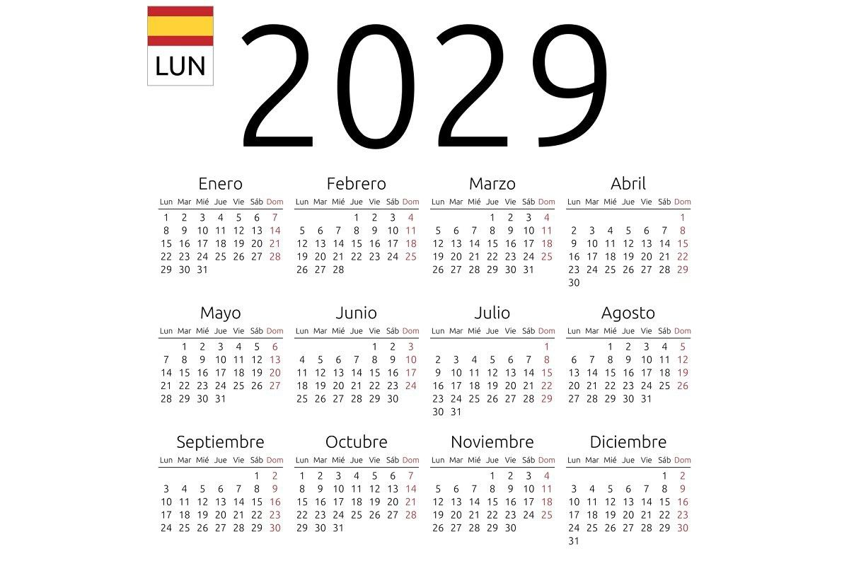 Calendar 2029 Spanish Monday Printable Calendar Template