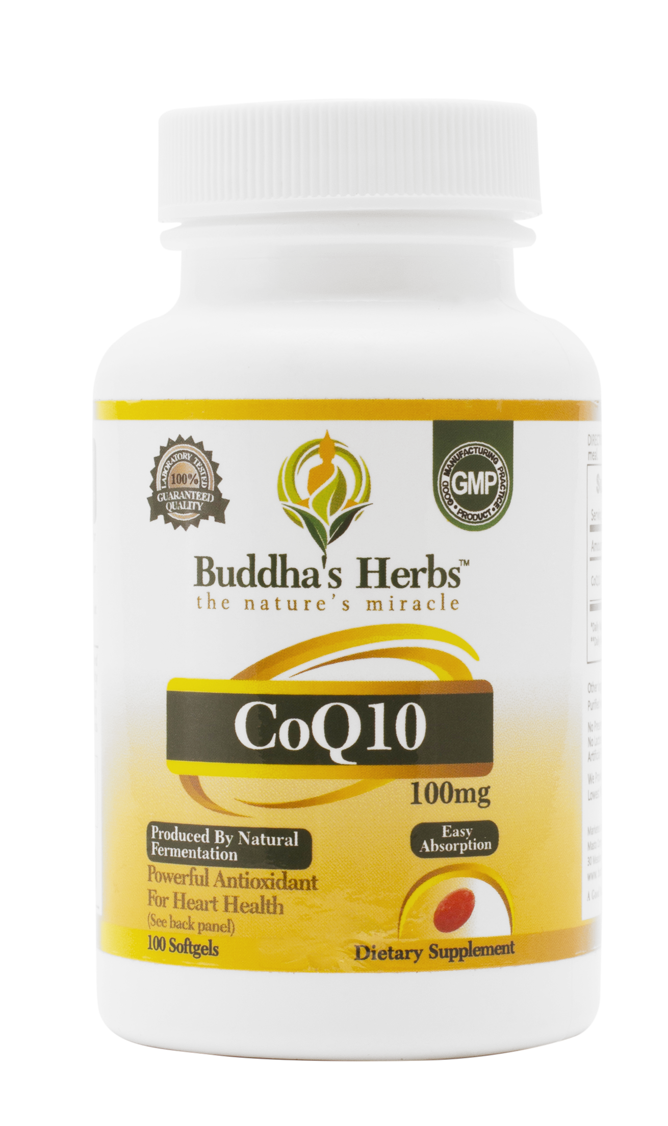 Buy Buddha's Herbs High Absorb CoQ10-100 mg, 100c-CONSUMER LAB Certified, online and  get free shipping on orders above $20. Buy now and SAVE BIG.