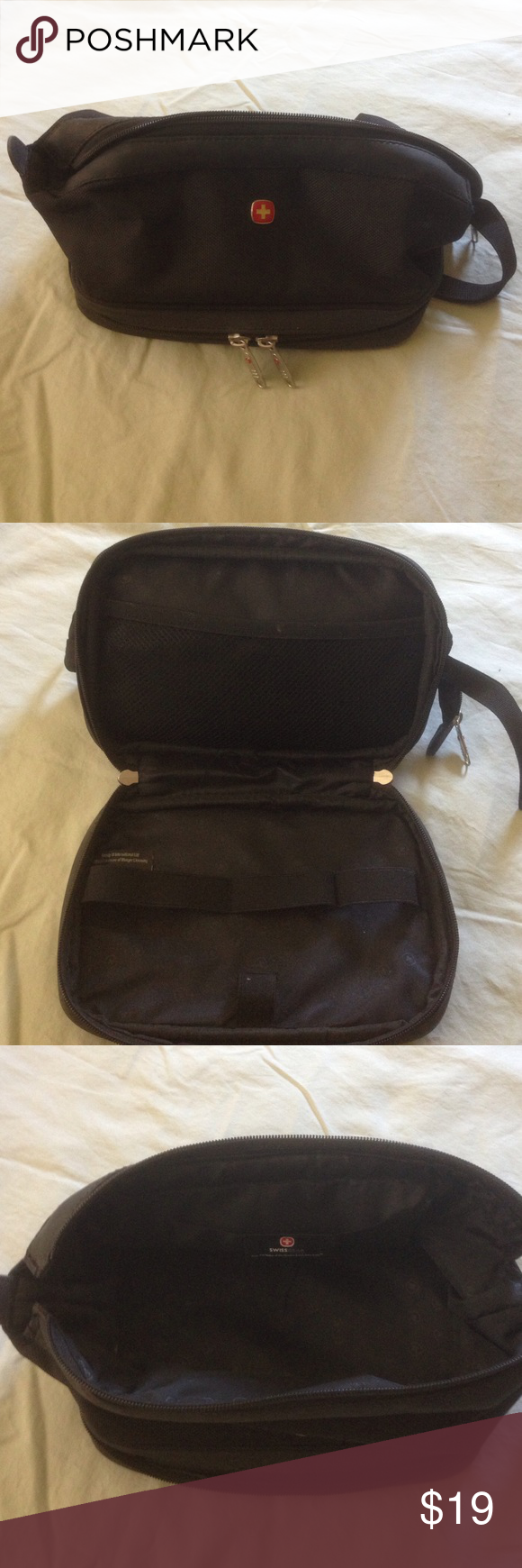5b20f00cd21a Swiss Gear Toiletry Bag Gently used men s Swiss toiletries bag no major  marks or holes in great shape. From the makers of the Swiss Army knife  Swiss Gear ...
