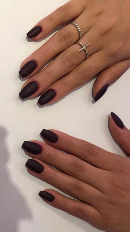 These black matte nails are one of the new 2017 trend. Get yours ...