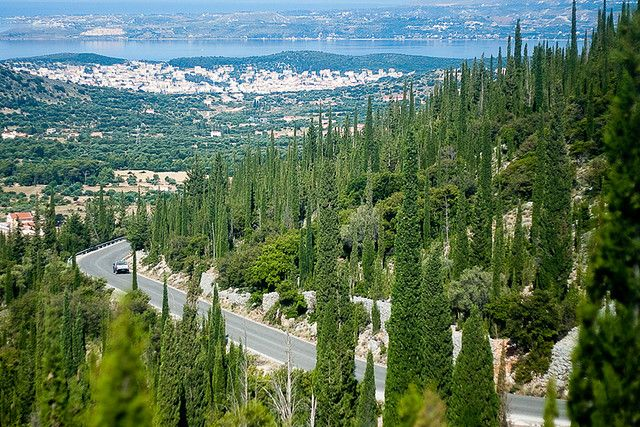 Kefalonia mountain road