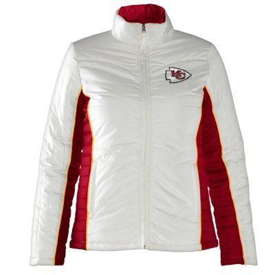 eb4d02cc Kansas City Chiefs Ladies Touchdown Full Zip Jacket - White/Red ...