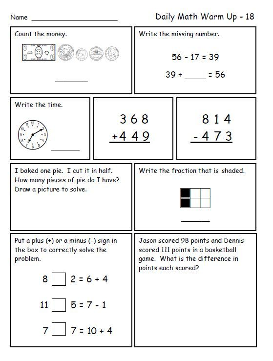 Brush Up Your Elementary Math Skills with These Worksheets – Third Grade Math Review Worksheets