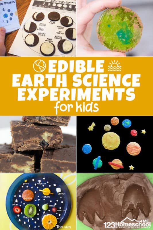 So many fun creative edible earth science experiments for kids of all ages