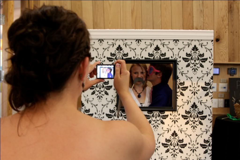 Interactive photo wall!  Great idea!