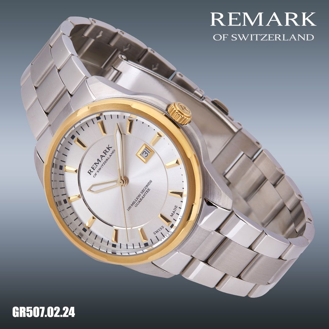 Gr 507 02 24 Swiss Made Movement Ronda 705 Date At 3 Sapphire Coating On Crystal Stainless Steel Case Size 46 X 47 X 11 Mm Dial With Luminous Hands Stainless
