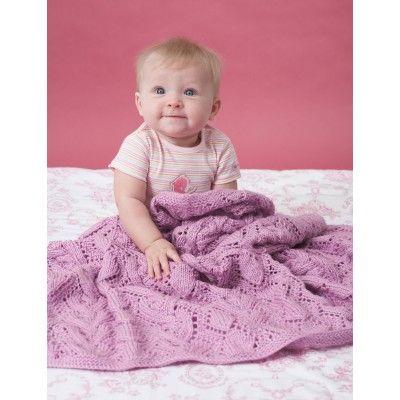 Free Intermediate Babys Blanket Knit Pattern Free Knit Baby