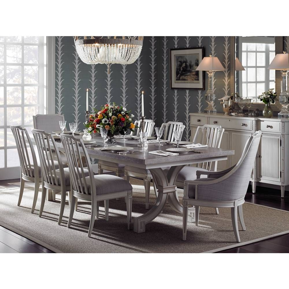 New preserve collection by stanley furniture looks great with the schumacher wallpaper