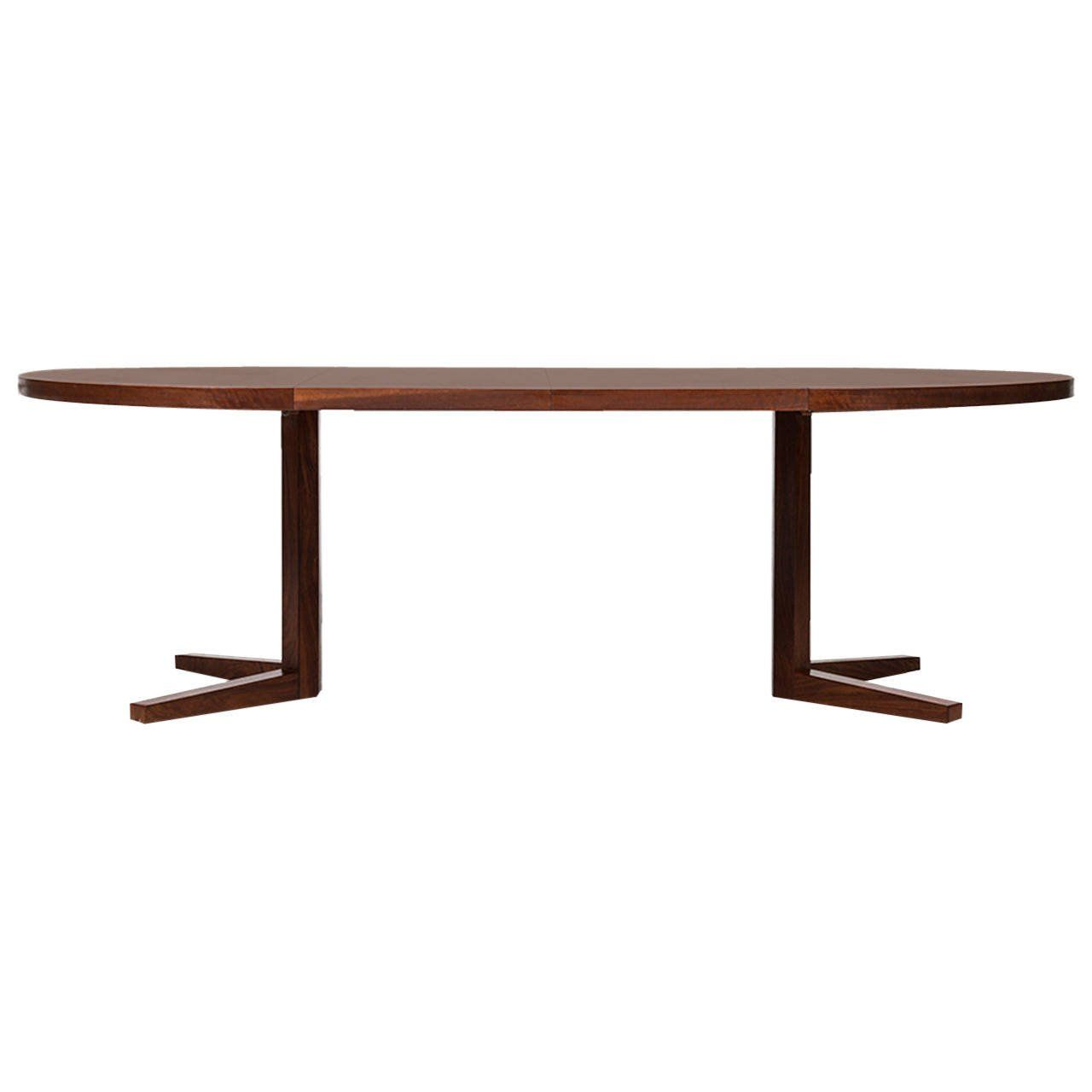 John Mortensen Dining Table In Rosewood By Heltborg Møbler