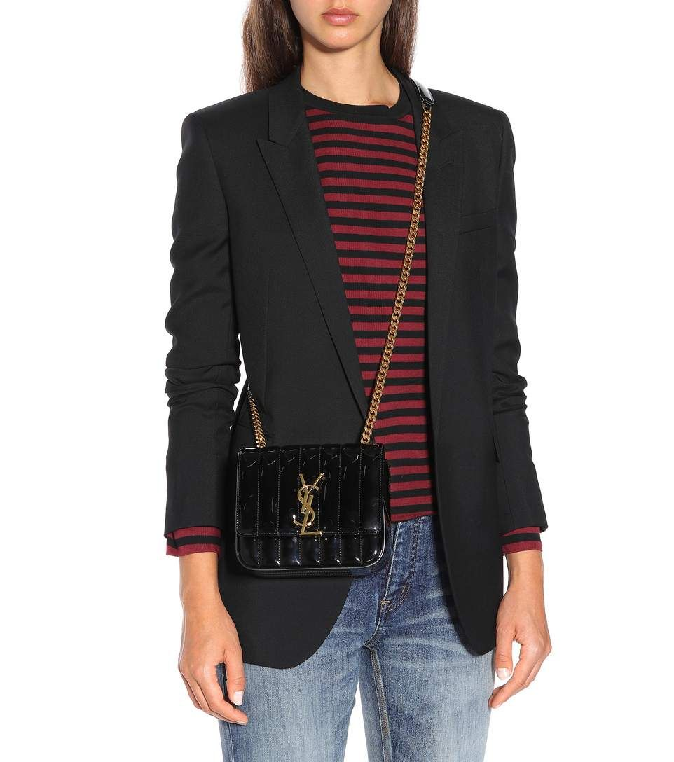 f4ea7eadad2a Saint Laurent - Vicky Small patent leather shoulder bag