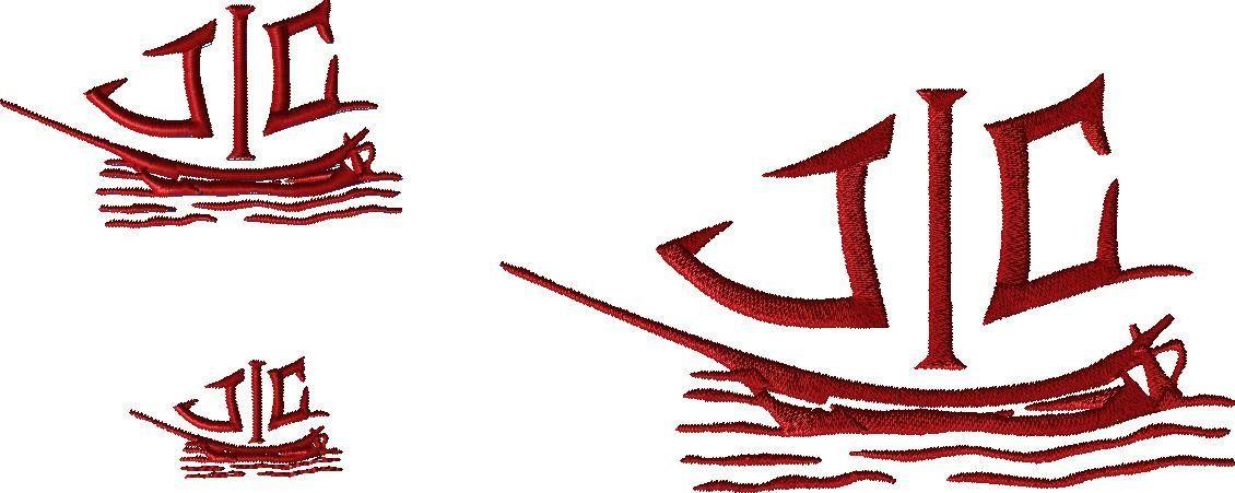 Custom design - JIC logo- for MG - custom embroidery design