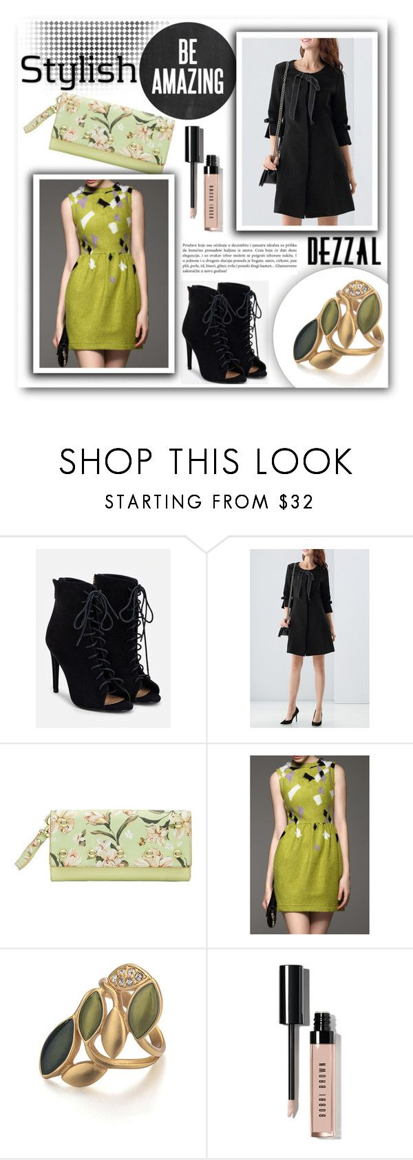 """""""Fall stylish"""" by tanja133 ❤ liked on Polyvore featuring JustFab, Bobbi Brown Cosmetics, Fall, autumn and dezzal"""