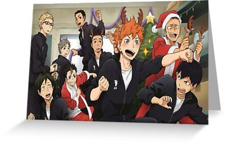 Haikyuu Karasuno Christmas Greeting Card & Postcard by NamG7