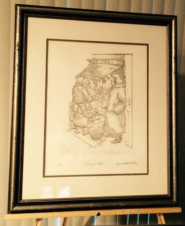 Seymour Rosenthal NYC Artist Rare Original Lithograph \