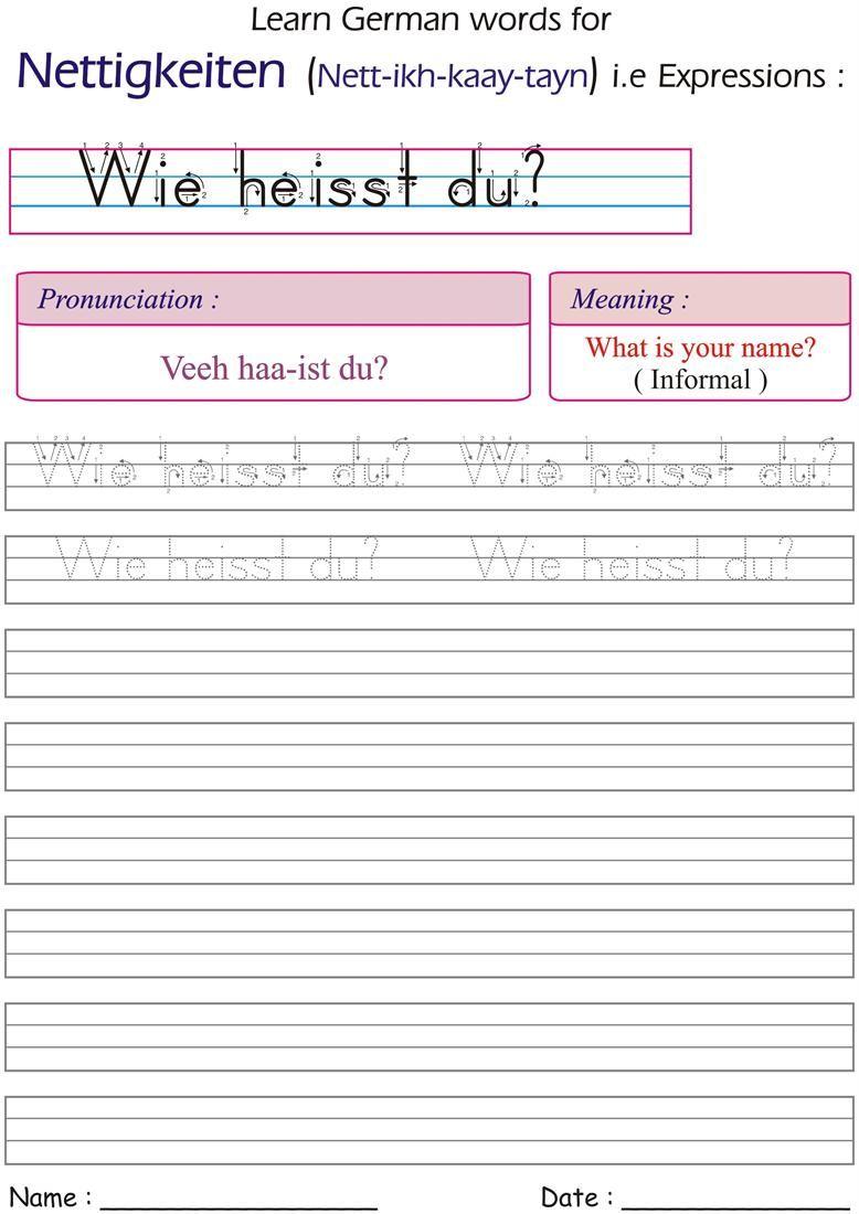 writing german expressions homeschool german worksheets homeschool names. Black Bedroom Furniture Sets. Home Design Ideas