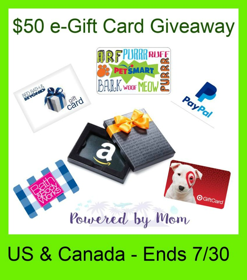 Win A 50 E Gift Card Of Choice Us Can Ends 7 30 Amazon Gift Card Free Egift Card Gift Card Giveaway
