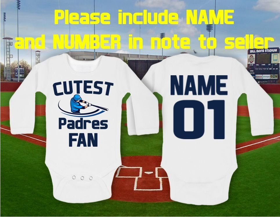 e4dc8762 San Diego Padres baby bodysuit Cutest Padres - San Diego, MLB Baby  personalized customized NAME NUMBER Funny Child boy Clothing Shower Top by  IvetShop on ...