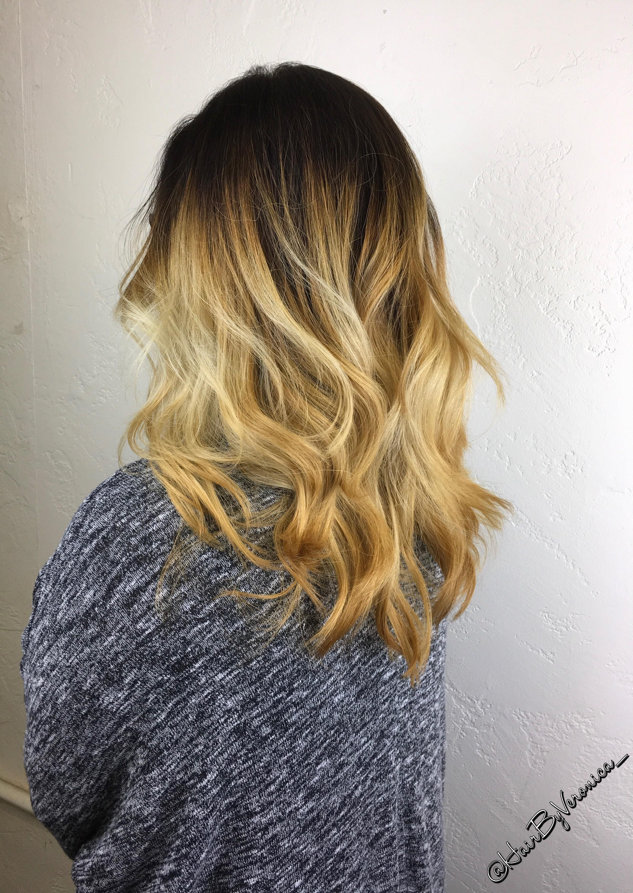 Balayage On Natural Level 2 Hair First Session Balayageombre
