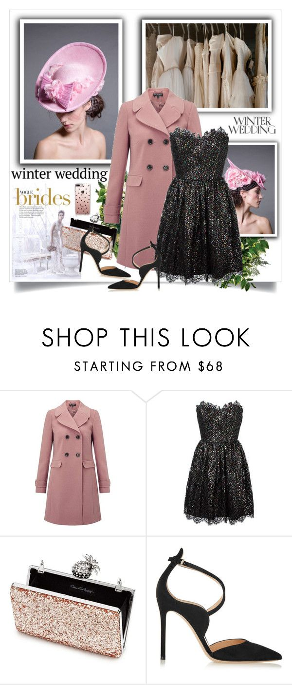 """""""True Romance: Winter Wedding"""" by sweetsely ❤ liked on Polyvore featuring Miss Selfridge, Yves Saint Laurent, Gianvito Rossi, Casetify, polyvoreeditorial and winterwedding"""