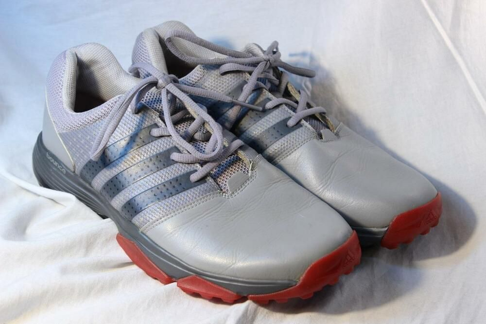 cf56995a46874 Mens Adidas 360 Traxion Golf Shoes Gray Red 10.5 Spikeless Onyx ... adidas  360