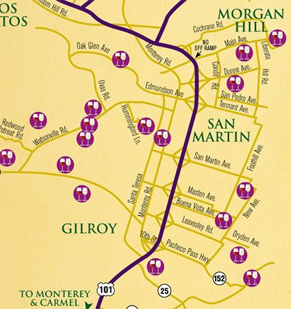 Gilroy Welcome Center Map Gilroy California Pinterest
