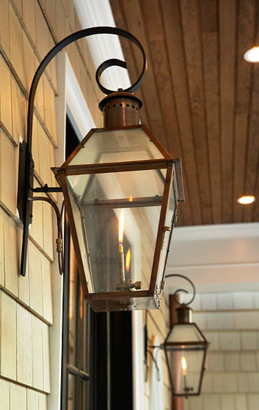 French Quarter Lantern On A Half Rodin Bracket Bevolo Gaslights Copperlanterns Copper Lighting Lantern Lights Gas Lights