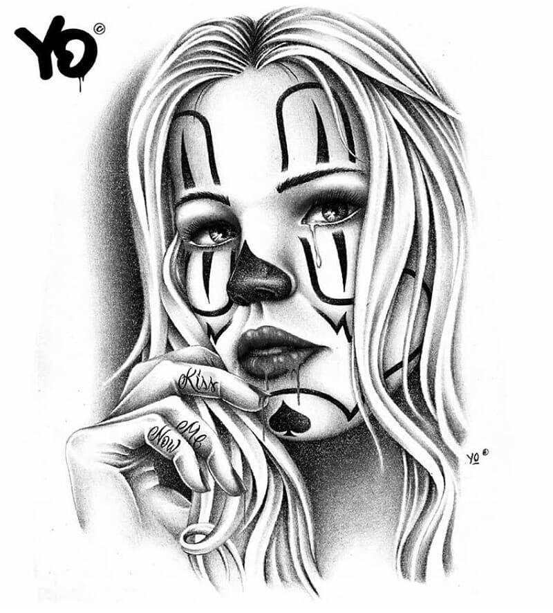 A Imagem Pode Conter Desenho Tatuagem De Palhaco Desenho Tatuagem