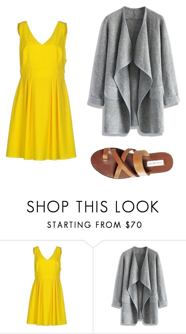 """yellow dress outfit 2"" by jessica-rose-lentz on Polyvore featuring Imperial, Chicwish and Steve Madden"
