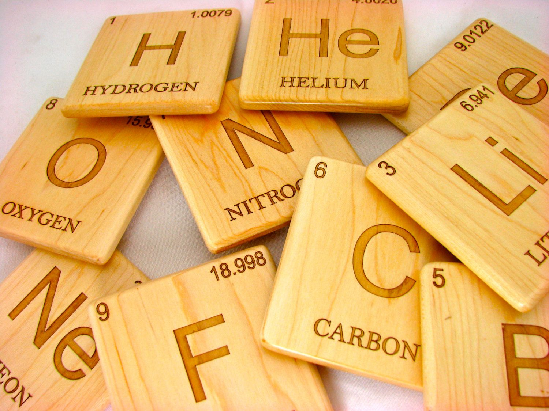 Periodic table element coaster pick 1 wood coaster periodic periodic table element coaster pick 1 wood coaster periodic table laser engraved urtaz Choice Image